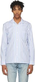 Cobra S.C. Blue & White Striped Cabriolet Shirt