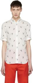 Alexander McQueen White All Over Skeleton Shirt