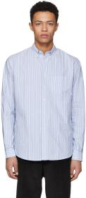 Schnayderman's Blue Barre Stripe Leisure Shirt