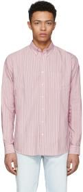 Schnayderman's Red Barre Stripe Leisure Shirt