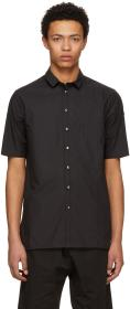 Isabel Benenato Black Club Collar Shirt