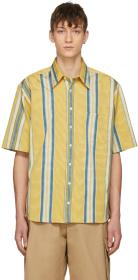 Ribeyron Yellow & Blue Striped Tourist Shirt