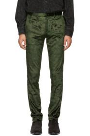 Paul Smith Green Velvet Trousers