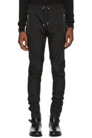 Balmain Black Satin Side-Band Lounge Pants