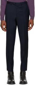 Hugo Navy Pinstripe Hening Trousers