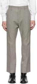 Dsquared2 Multicolor Cropped Flare Houndstooth Tro