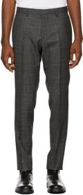 Boss Black & Grey Check Genesis 4 Trousers
