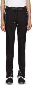 Balmain Black Stripe Wool Trousers