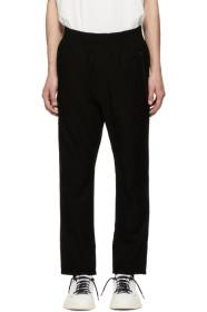 Y-3 Black Cropped Twill Trousers