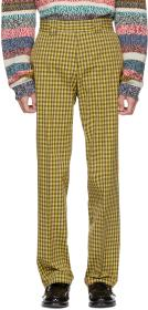 Burberry Yellow Turnpike Check Trousers