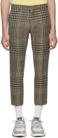 AMI Alexandre Mattiussi Black & Beige Checkered Cr