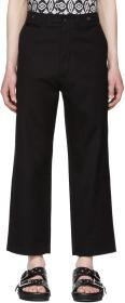 Alexander McQueen Black Cropped Trousers