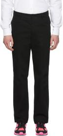 Rochambeau Black Relaxed Fit Trousers