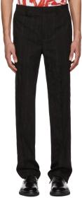Givenchy Black Jacquard Embroidered Star Trousers