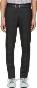 Lanvin Black & White Bicolor Chino Trousers