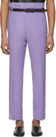 Haider Ackermann Purple Selenite Double-Waisted Tr