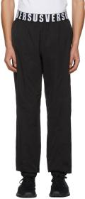 Versus Black Logo Waistband Lounge Pants