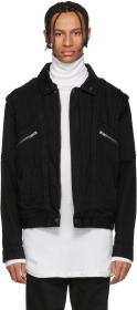 Givenchy Black Denim & Shearling Biker Jacket