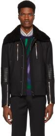 Paul Smith Black Shearling Flight Jacket