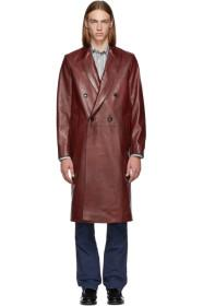 Paul Smith Red Double-Breasted Coat