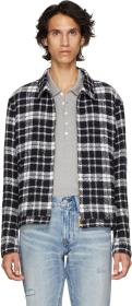 Thom Browne Navy Tartan Golf Jacket