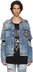 Balmain Blue Badge Denim Jacket
