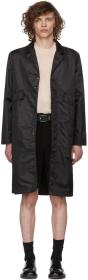 L'Homme Rouge Black Nylon Prompter Mac Coat