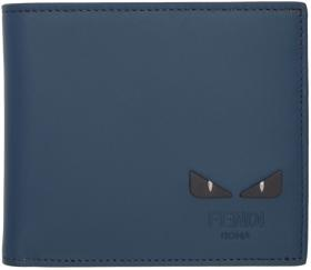 Fendi Blue & Yellow 'I See You' Wallet