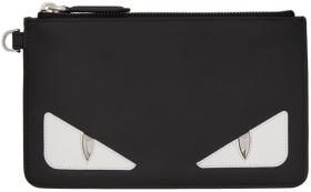 Fendi Black 'Bag Bugs' Small Coin Pouch Wallet