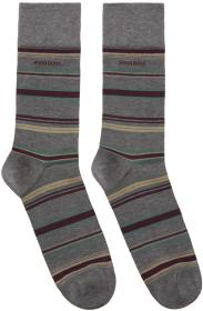 Boss Grey Multistripe Socks
