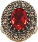 Alexander McQueen Gold & Red Jewelled Ring