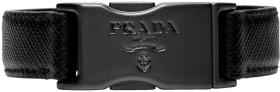 Prada Black Saffiano Press-Release Bracelet
