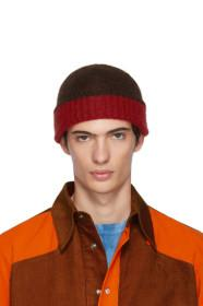 Marni Red & Brown Jersey Beanie