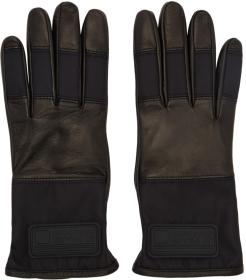 Prada Black Lambskin Logo Gloves