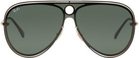Ray-Ban Black & Gold Pilot Aviator Sunglasses