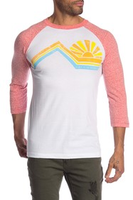 C & C California Into the Sun Raglan Baseball Tee