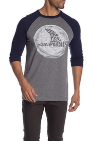 C & C California The Fin Raglan Baseball Tee