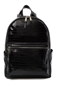 French Connection Perry Croc Embossed Backpack