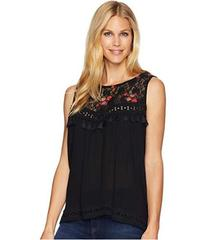 Wrangler Sleeveless Top with Lace Embroidered Fron