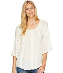 Wrangler Off the Shoulder Top Lace Insets