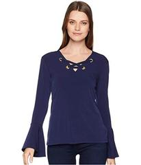 MICHAEL Michael Kors Bell Sleeve Lace-Up Top