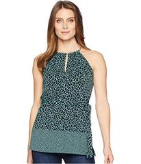 MICHAEL Michael Kors Multi Leopard Trim Neck Tunic