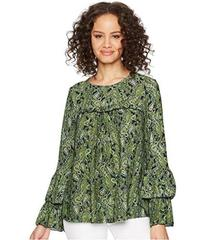 MICHAEL Michael Kors Paisley Tier Sleeve Top