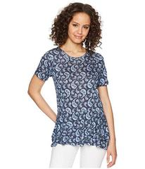 MICHAEL Michael Kors Paisley Double Hem Top