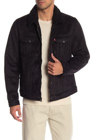 Levi's Faux Shearling Laydown Trucker Jacket