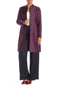 Anne Klein Abstract Hearts Mandarin Collar Trench