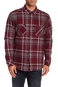 Quiksilver Front Button Plaid Regular Fit Shirt