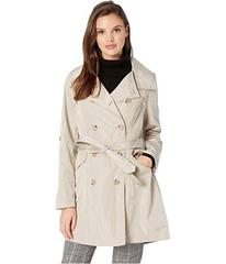French Connection Drape Back Belted Trench