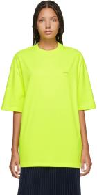 Balenciaga Yellow Oversized Logo T-Shirt