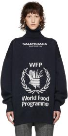 Balenciaga Navy World Food Programme Turtleneck